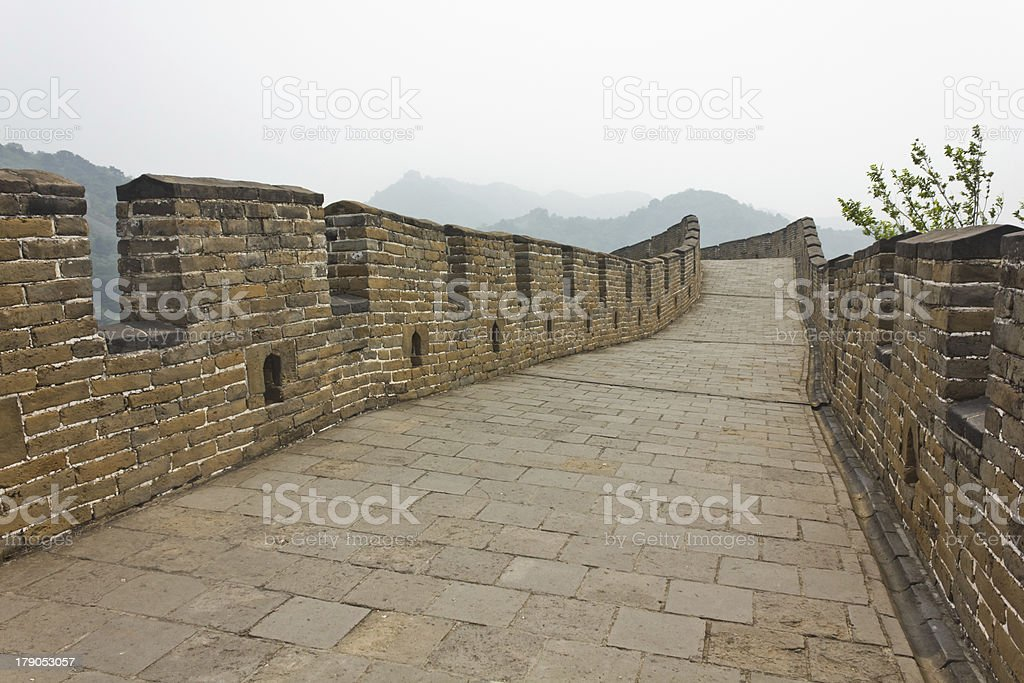 Alone on the Great Wall royalty-free stock photo