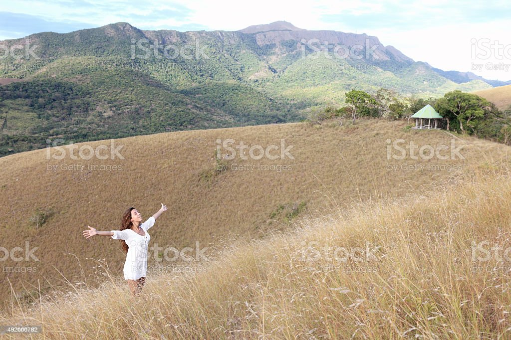 Alone on the hills of the Coron Island stock photo