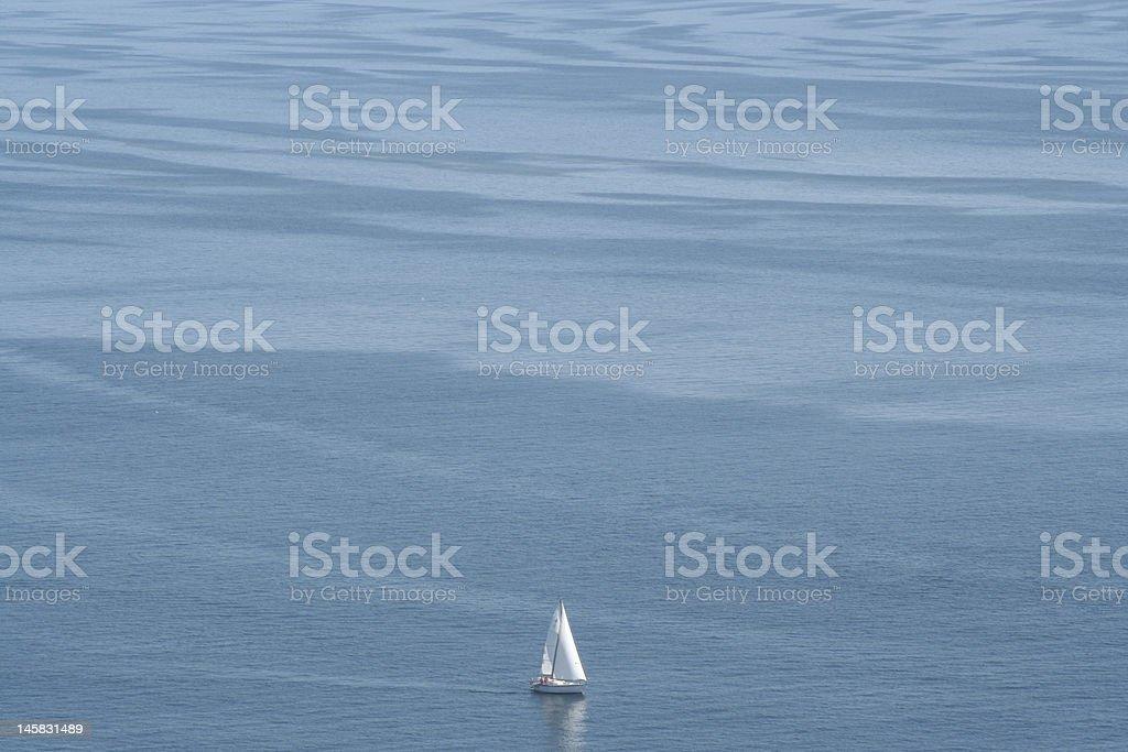 Solo en el mar foto de stock libre de derechos