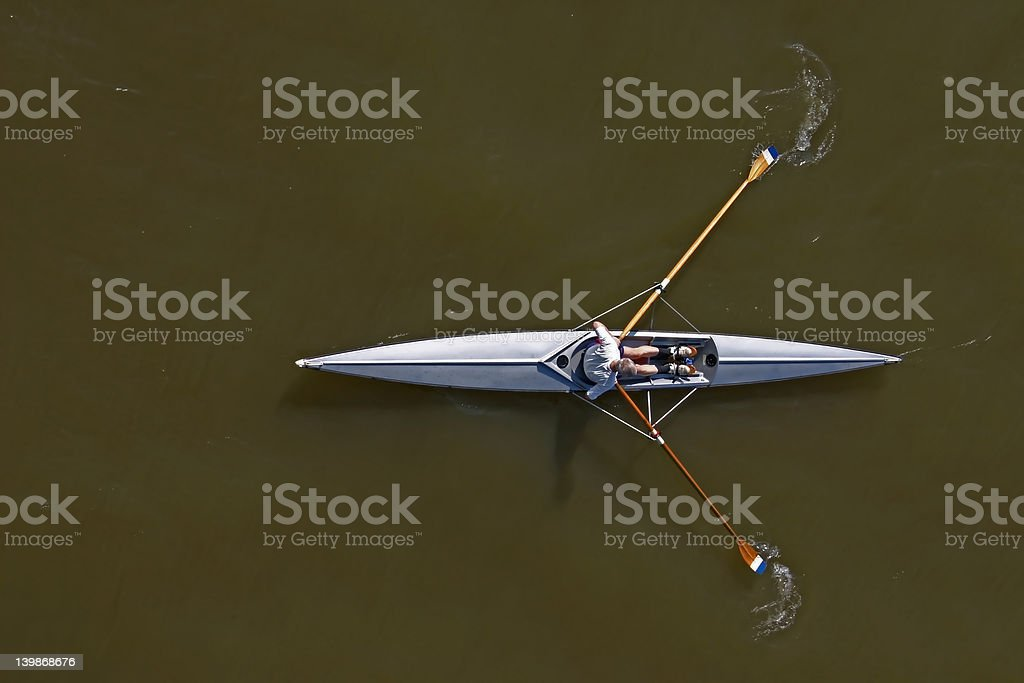 alone on the water royalty-free stock photo