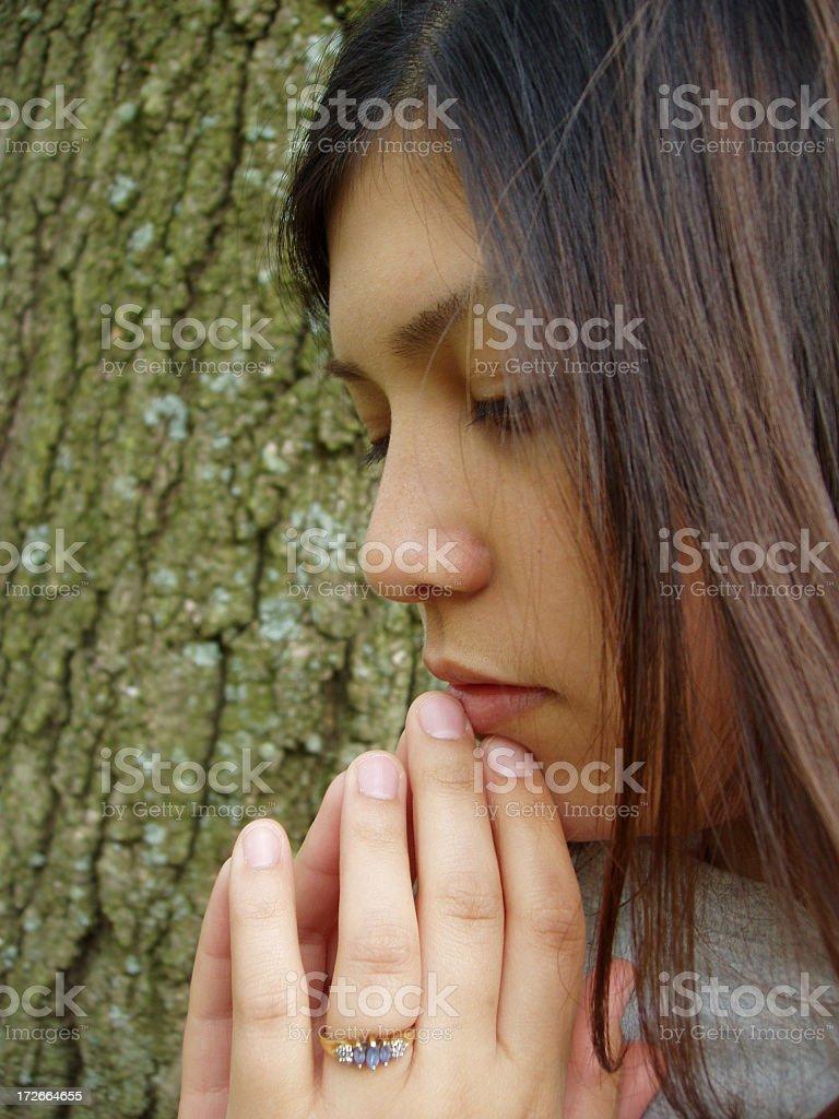 Alone & Thinking royalty-free stock photo