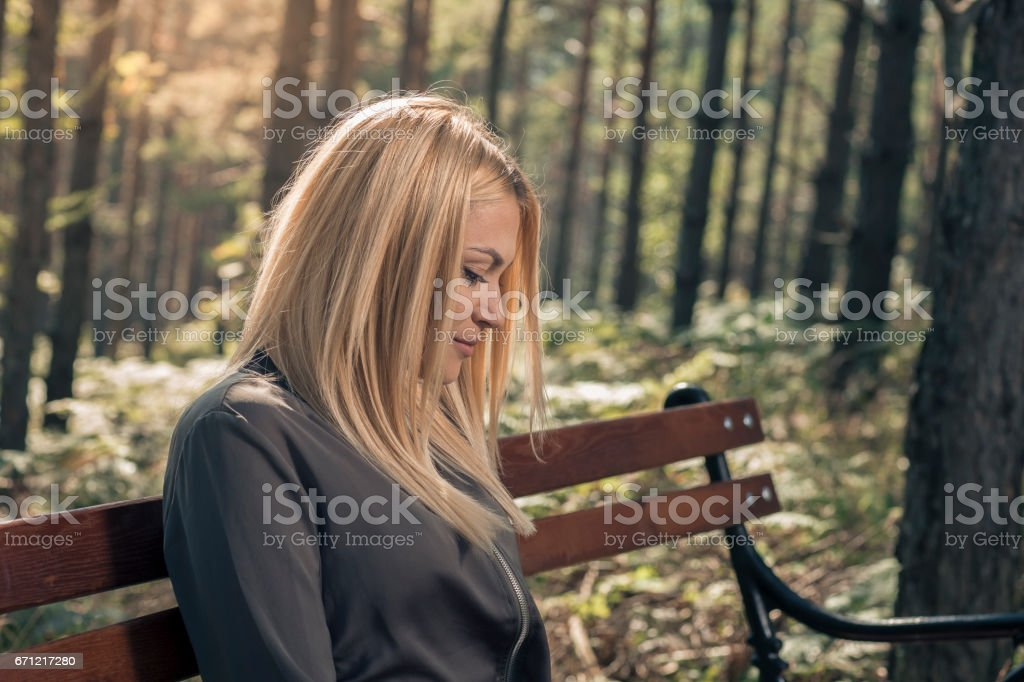 Alone time stock photo