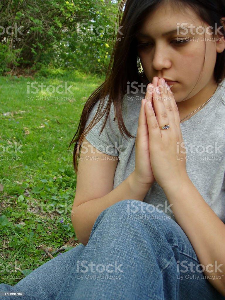 Alone to Pray royalty-free stock photo