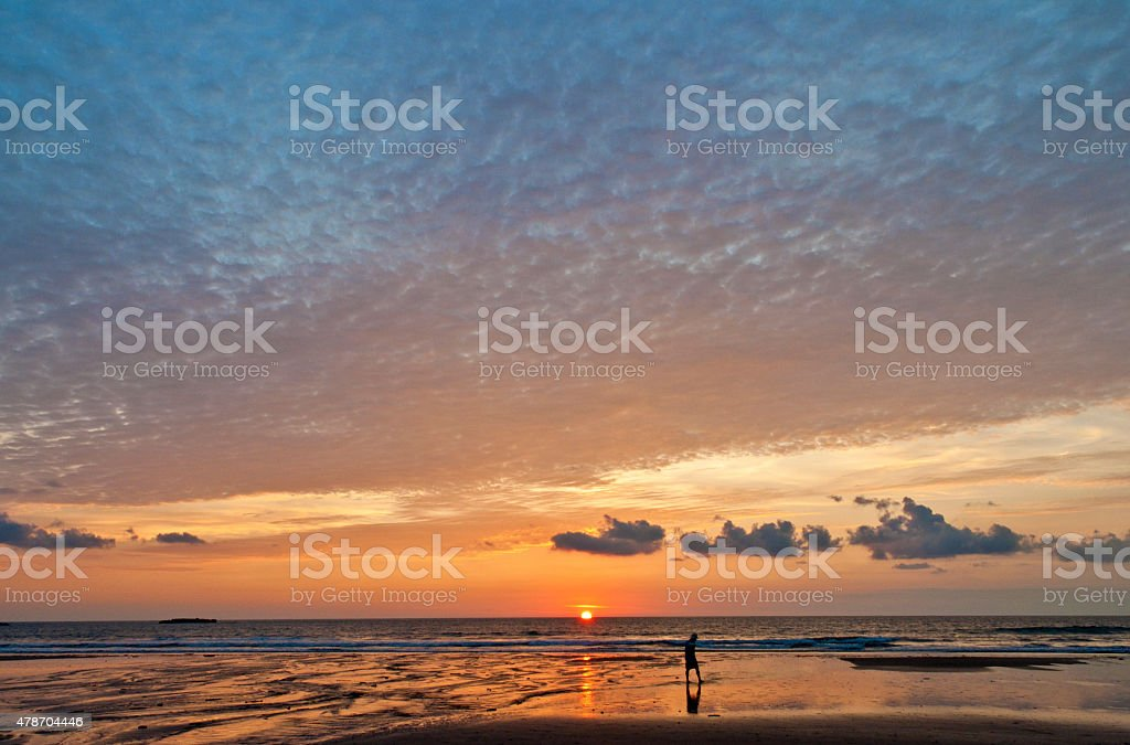 Alone with Pacific stock photo