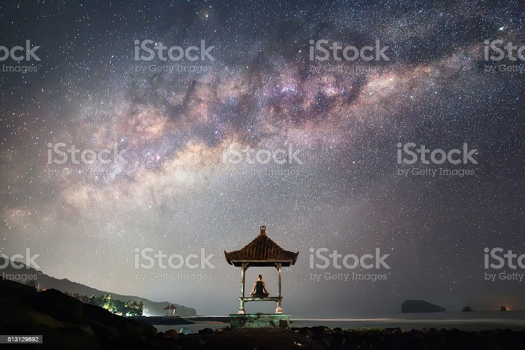 Alone with the Universe stock photo