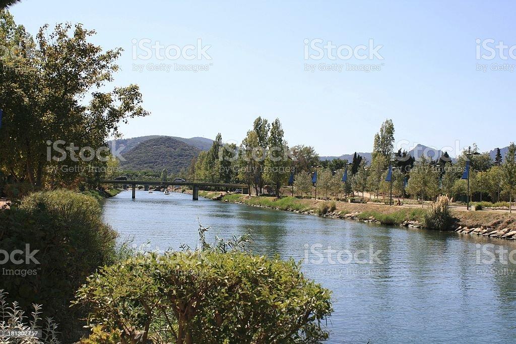 along a river stock photo