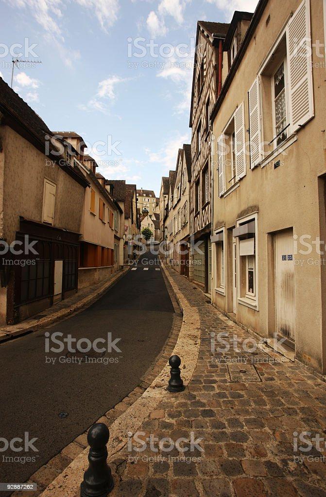 Along an empty street royalty-free stock photo