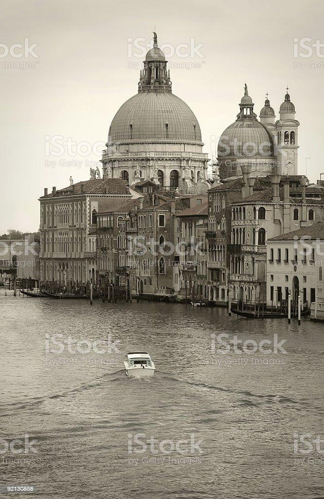 Along Canal Grande royalty-free stock photo