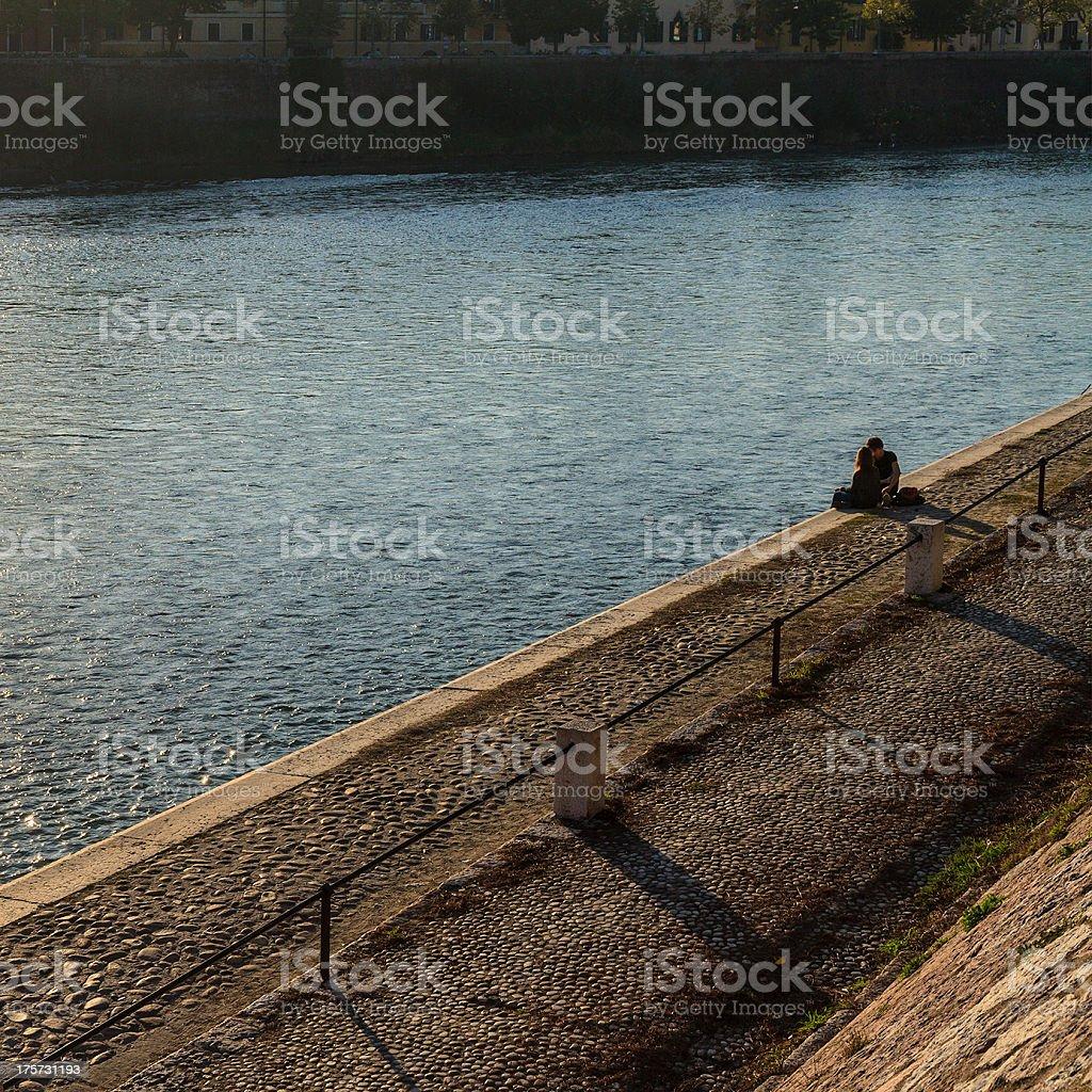 Along the Adige River stock photo