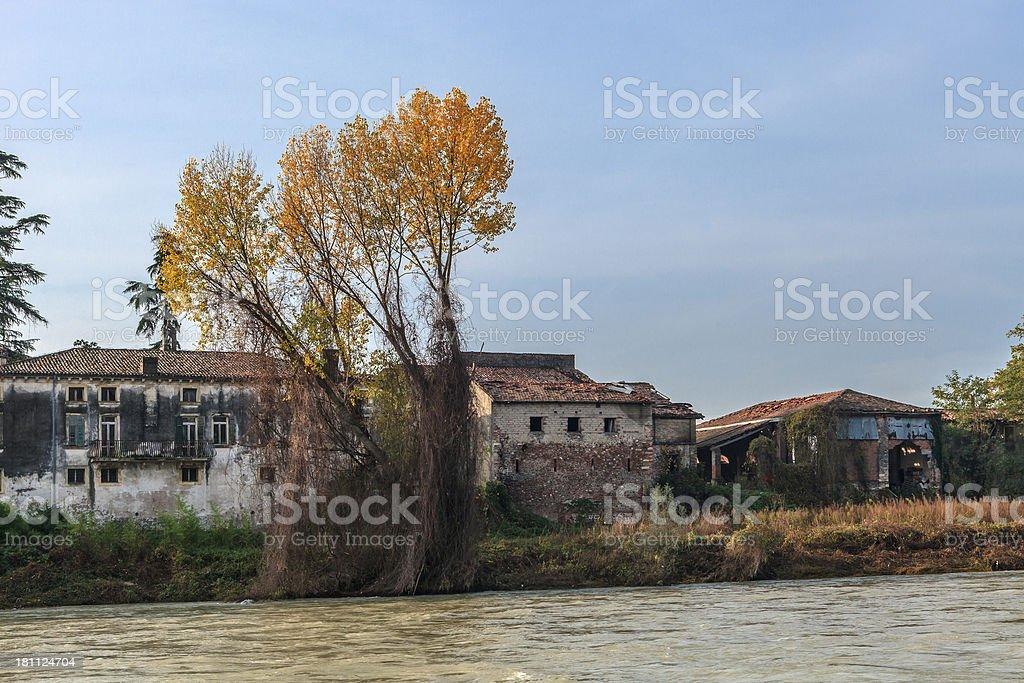 Along the Adige River, Verona, Italy royalty-free stock photo