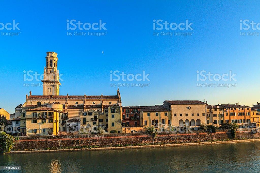 Along the Adige River, Verona stock photo