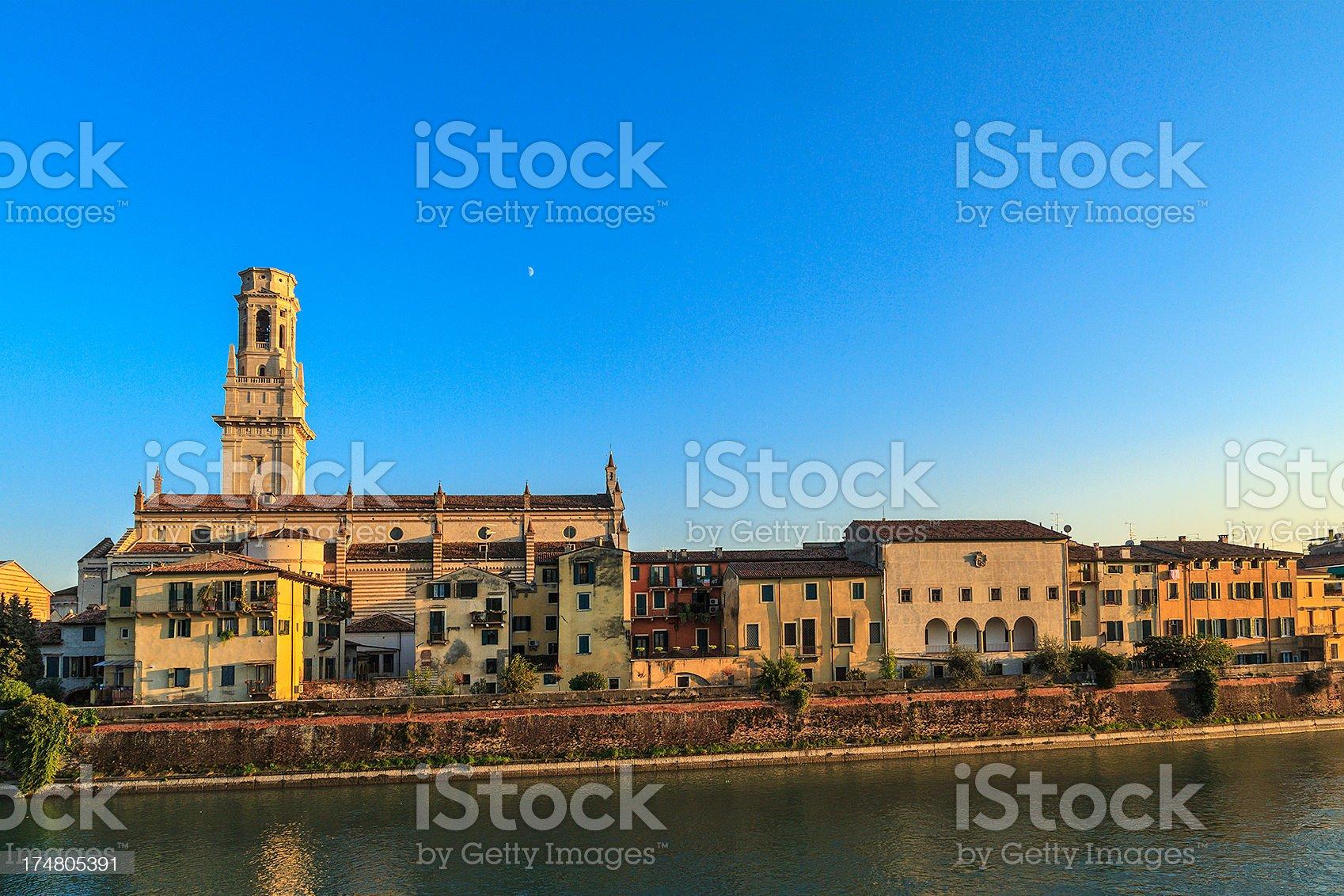 Along the Adige River, Verona royalty-free stock photo