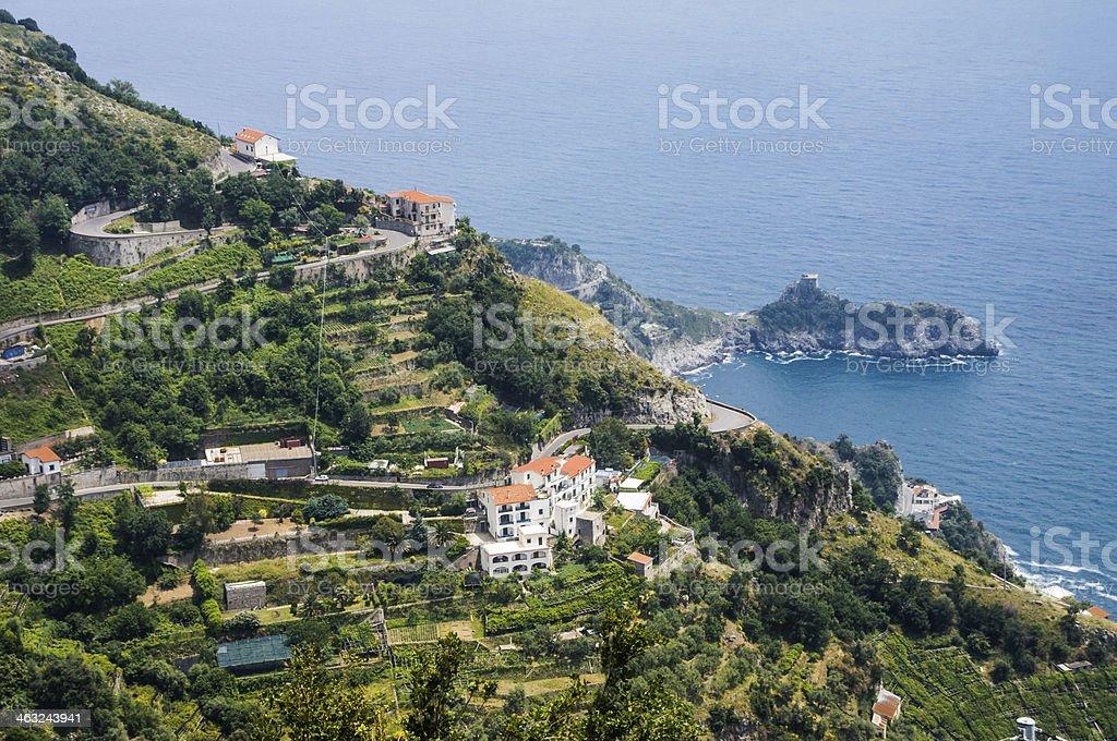 Along the Amalfi Coast stock photo