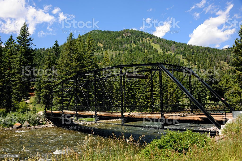 Along the Gallatin River stock photo