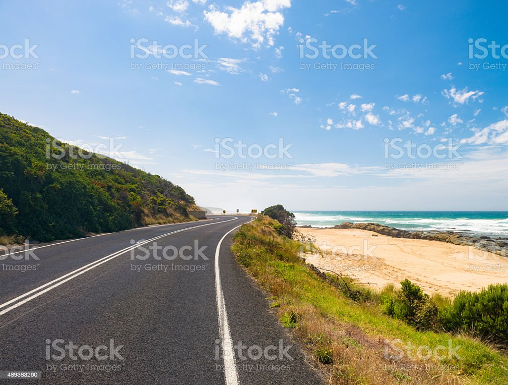 Along the Great Ocean Road stock photo