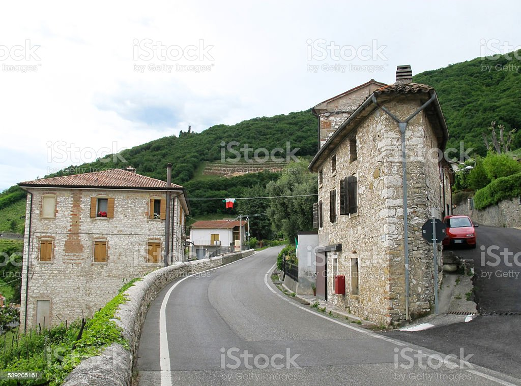 Along the Prosecco Route, Valdobbiadene, Italy stock photo