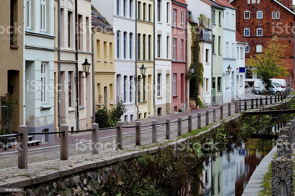 Along the River Frische Grube - Wismar stock photo