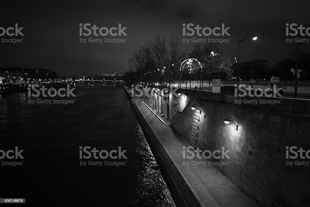 Along the Seine in Paris stock photo