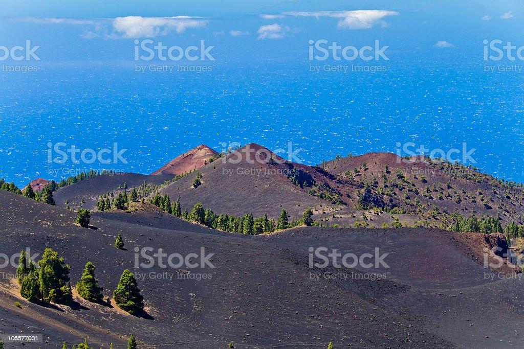 Along the Volcano Route, La Palma stock photo