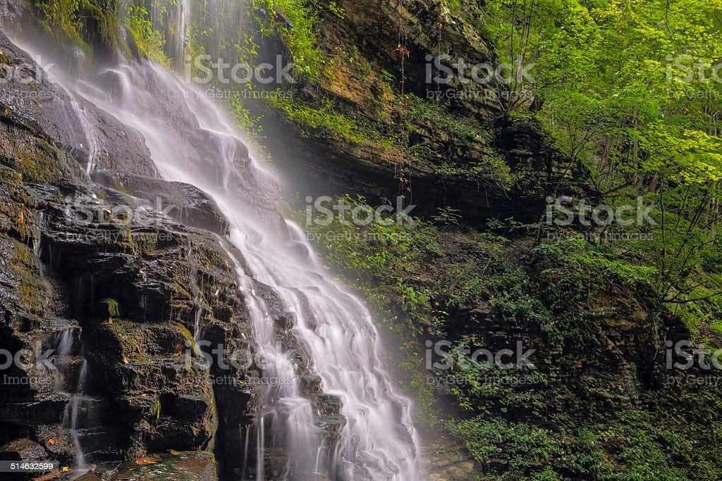 Alongside Cathedral Falls stock photo
