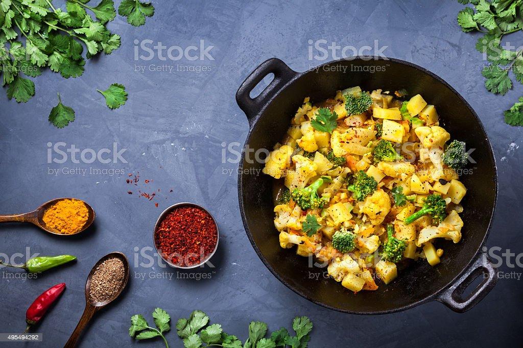 Aloo Gobi Indian food stock photo