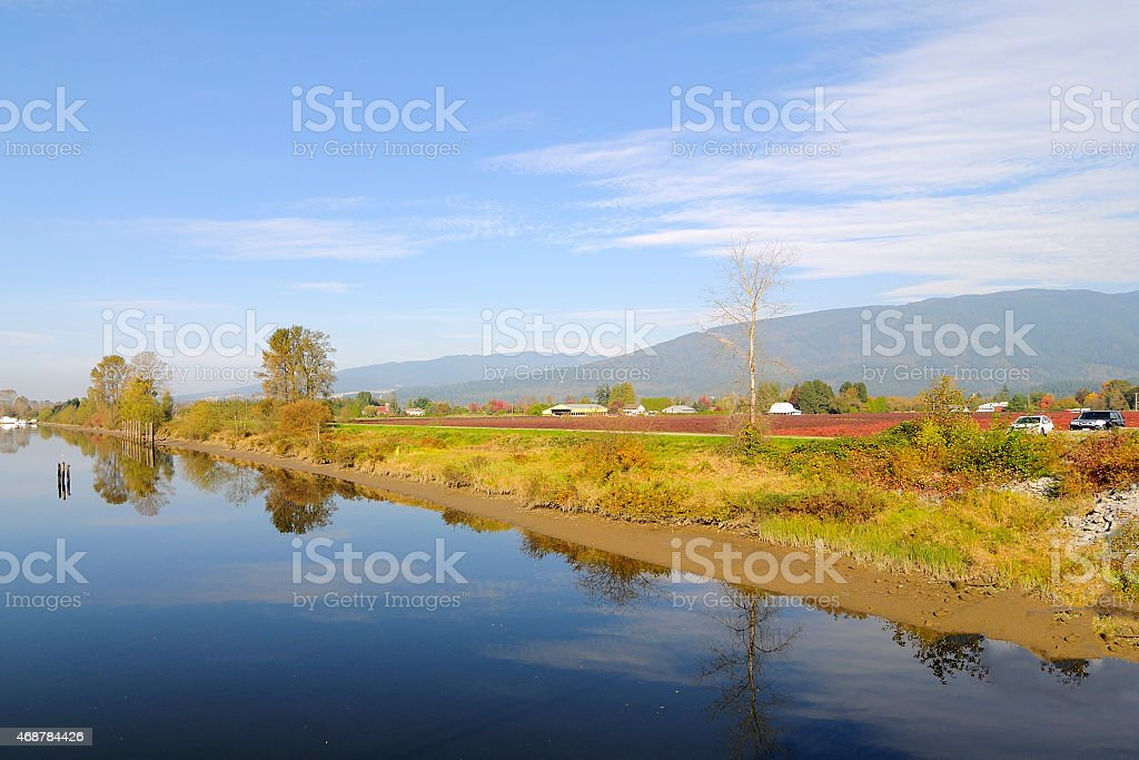 Alouette River in Autumn stock photo