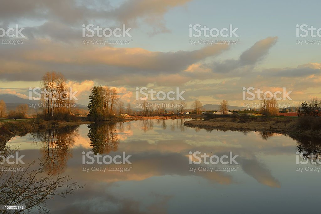 Alouette River, Pitt Meadows stock photo