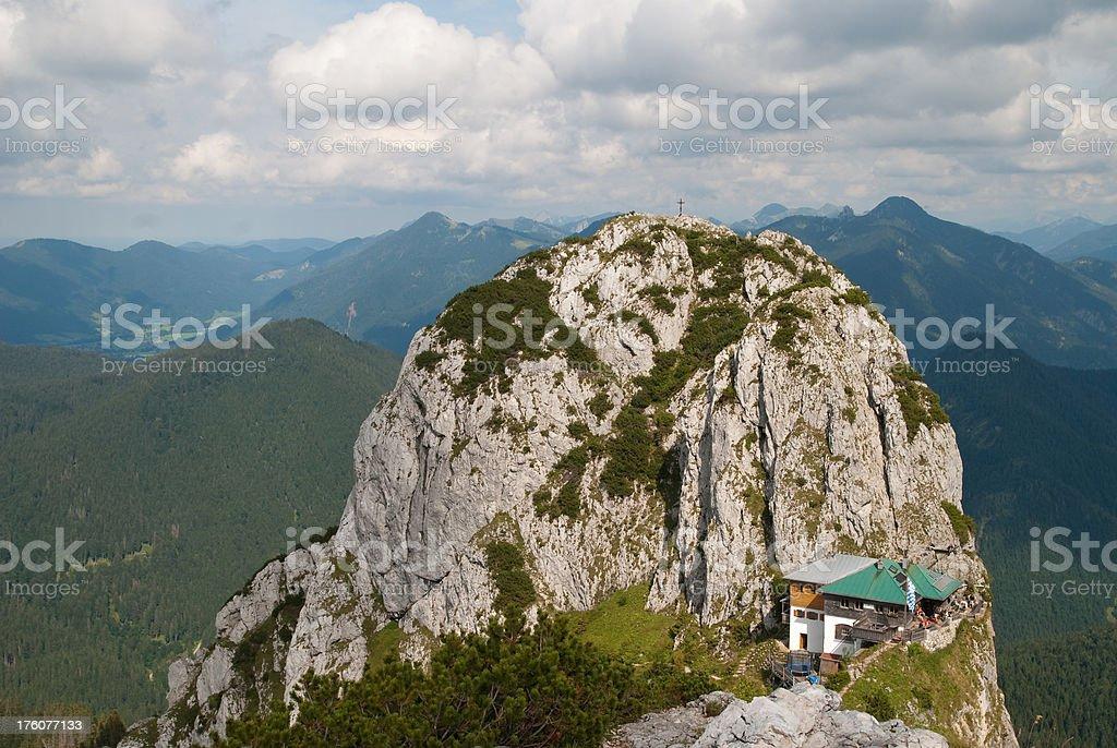 alp cabin tegernseer Hütte stock photo