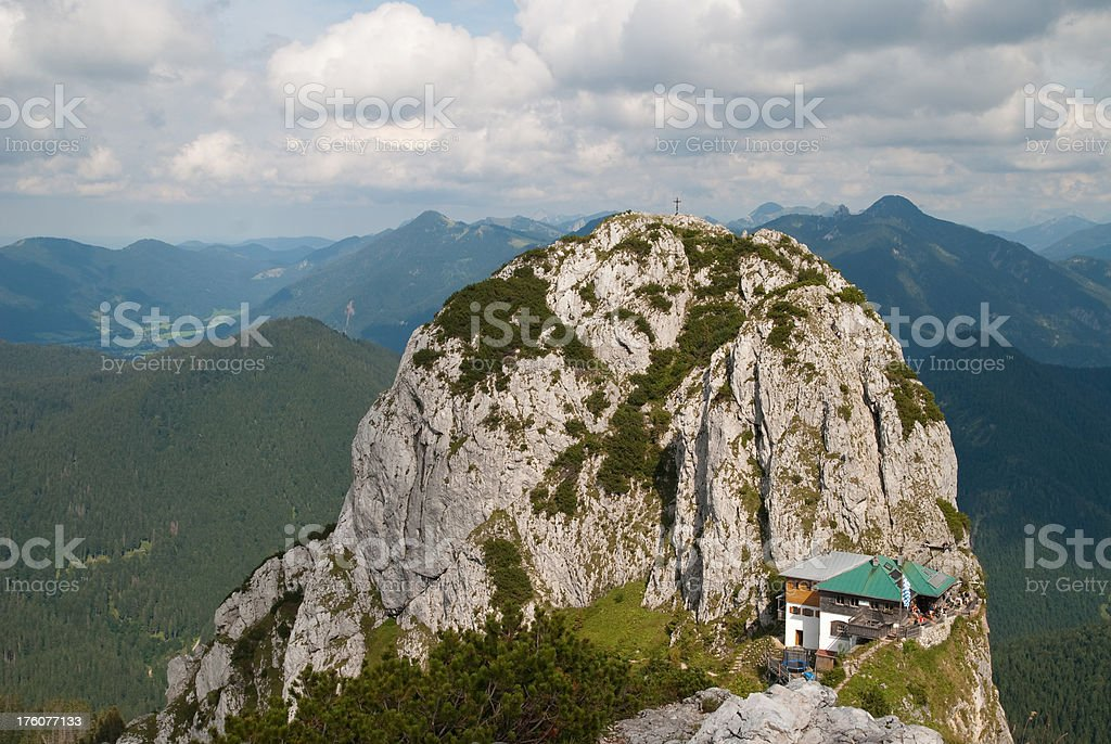 alp cabin tegernseer Hütte stock photo