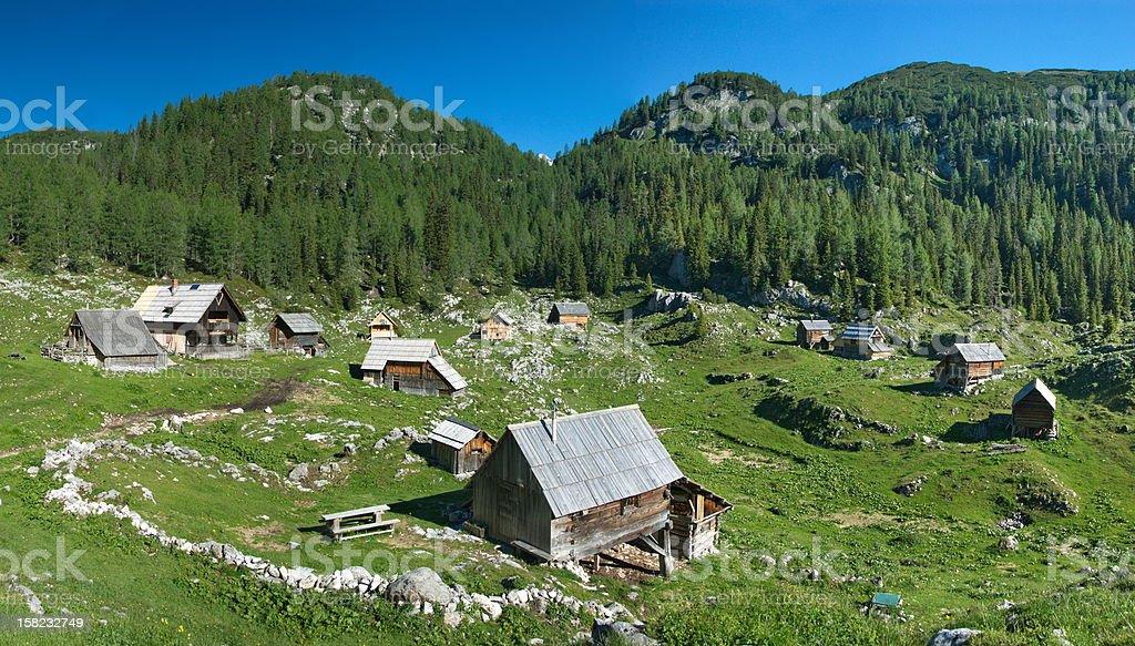 Alp Dedno polje stock photo
