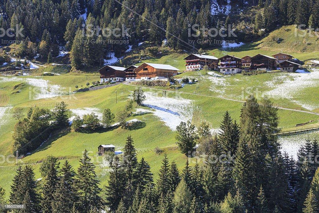 Alp farm village royalty-free stock photo