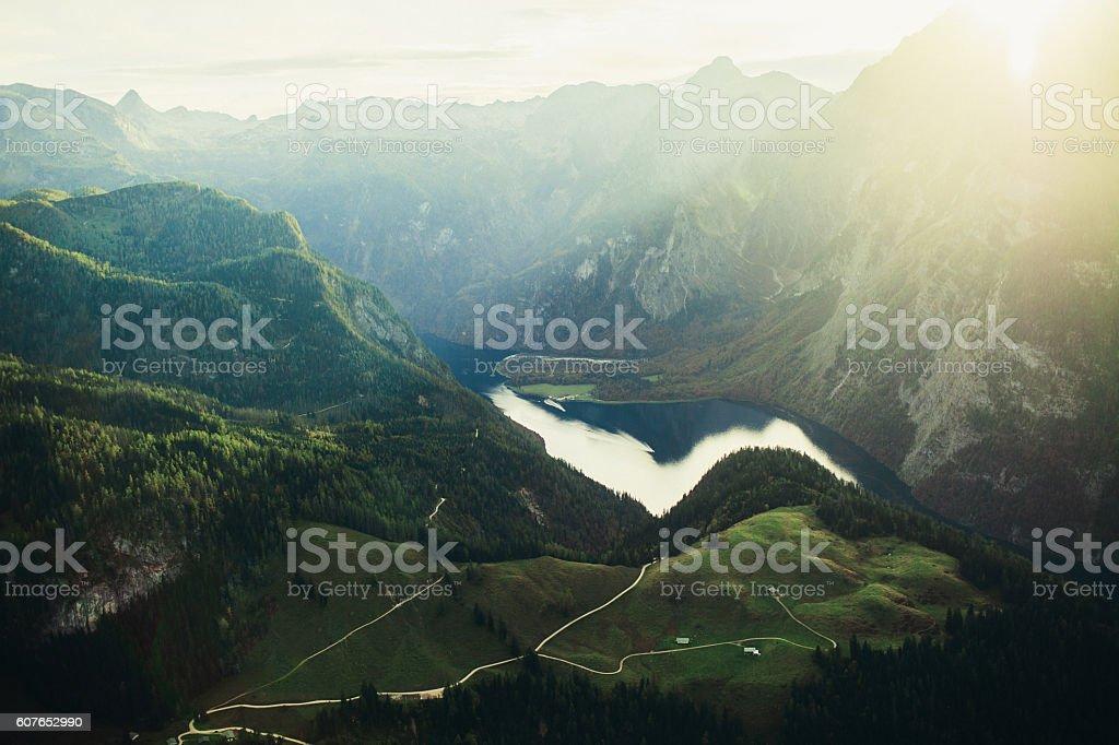 Alp Mountains stock photo