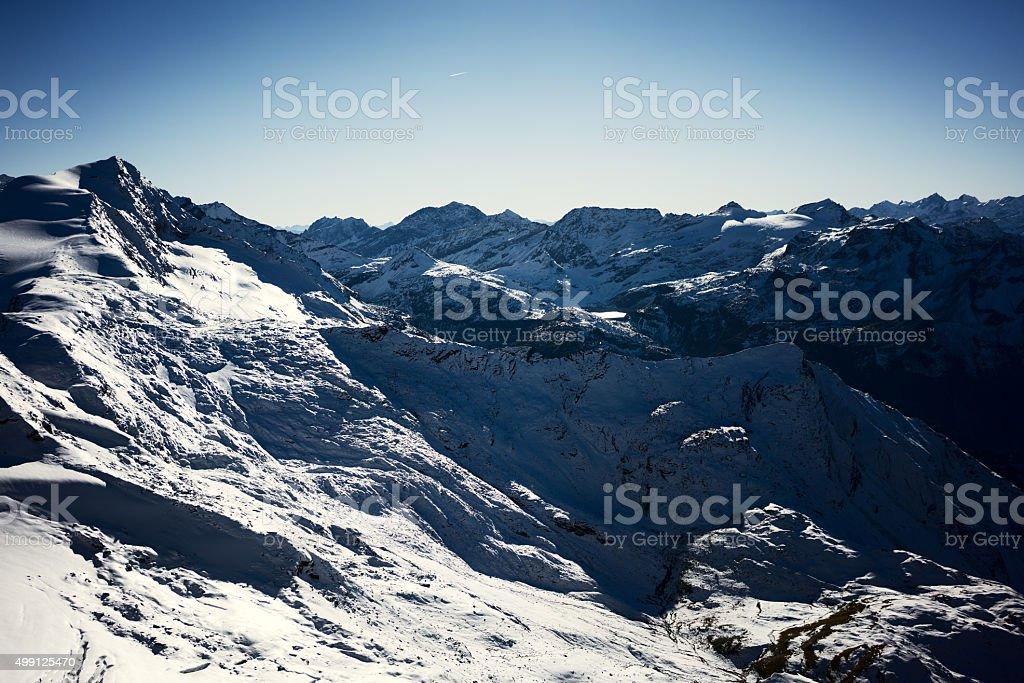 Alp mountainsin Austria stock photo