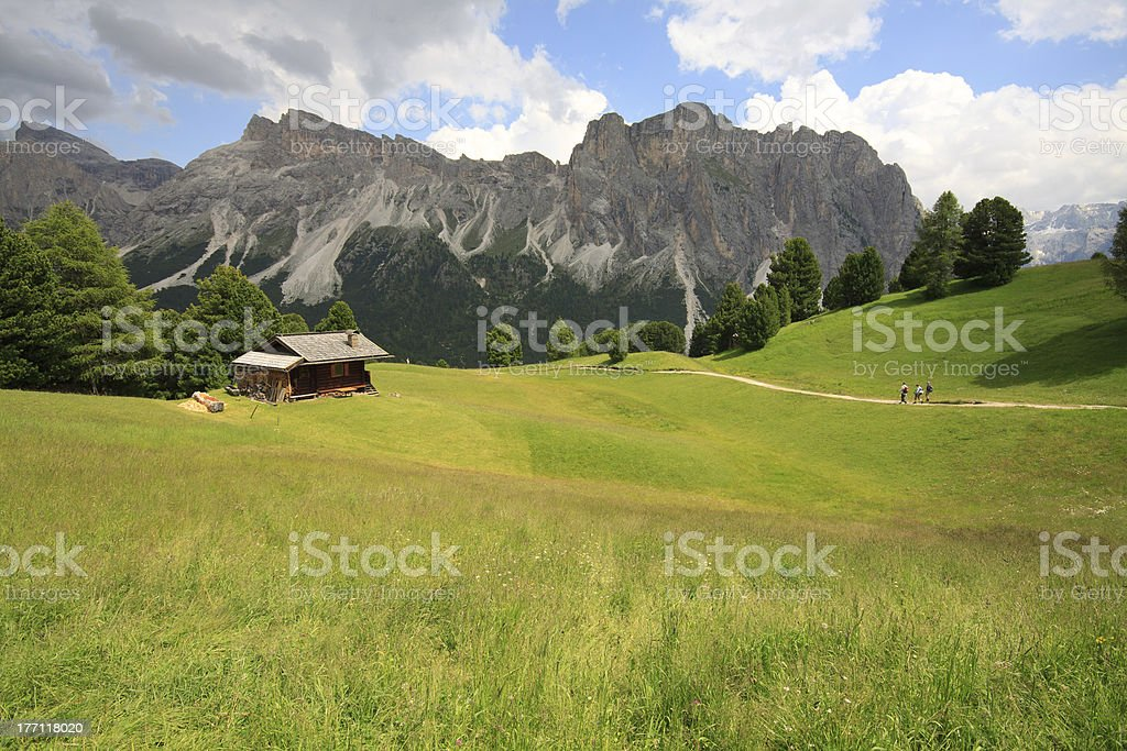 Alpe di Cisles - Val Gardena stock photo