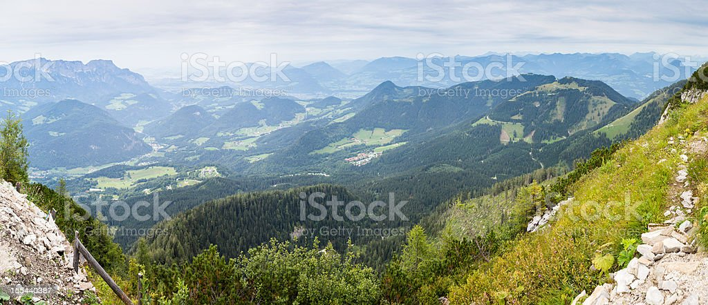 Alp View Panorama from Berchtesgaden stock photo