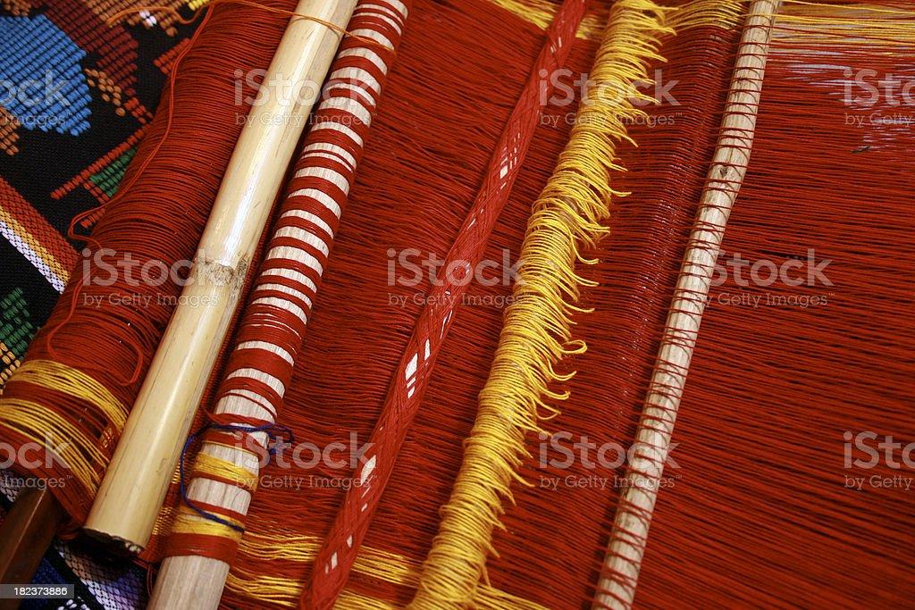 Alpaca Weaving Peru stock photo