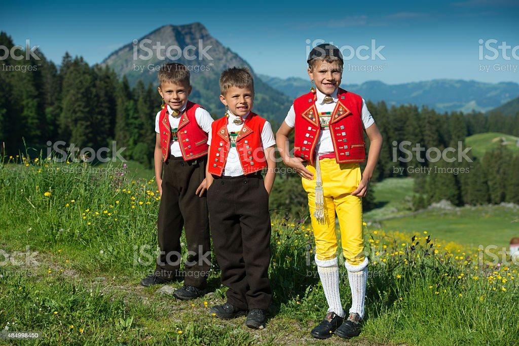 Alpaufzug stock photo