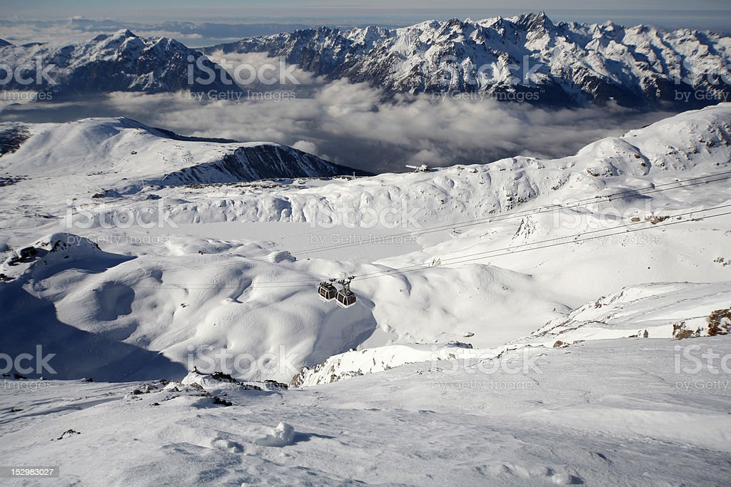 Alpe d' Huez top resort in french alps royalty-free stock photo