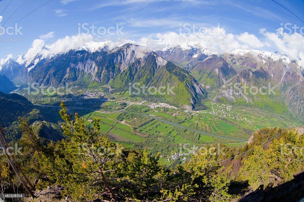 Alpe de la Gran Serre in spring stock photo