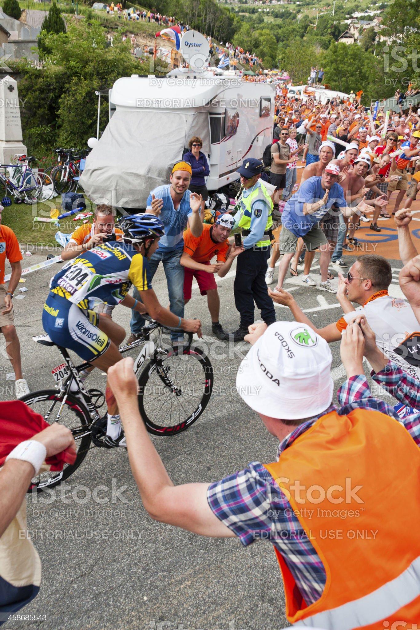 Alpe d'Huez Tour de France Stage royalty-free stock photo