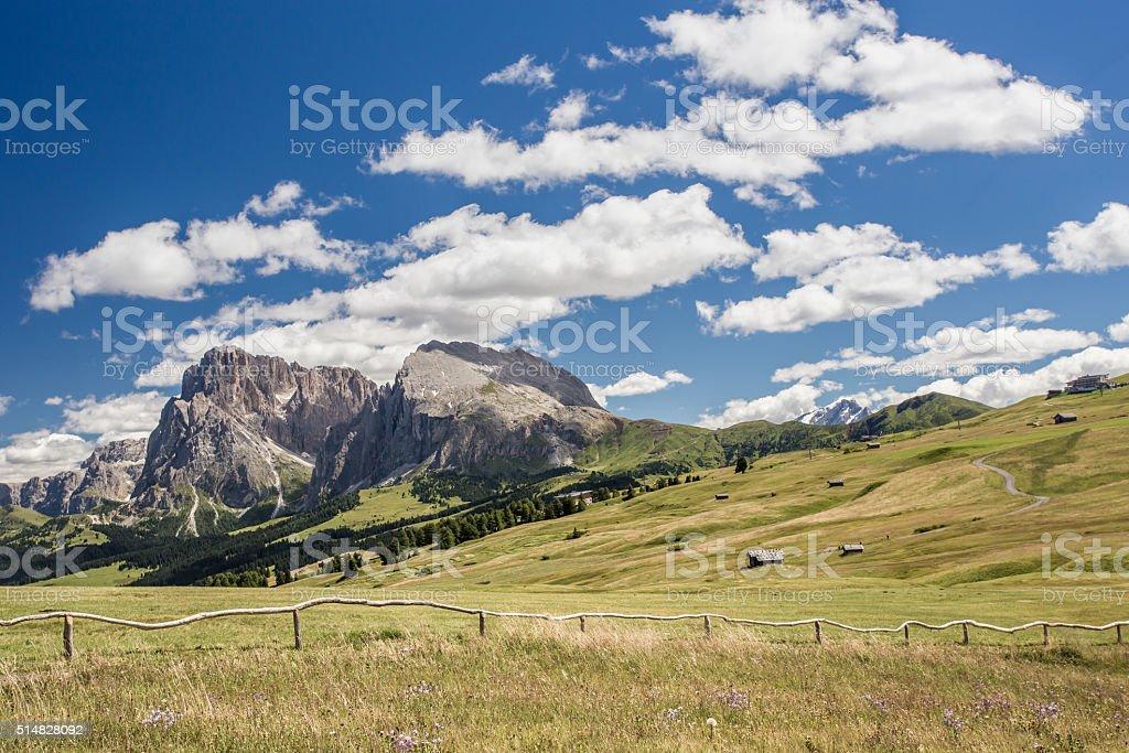 Alpe di Siusi stock photo