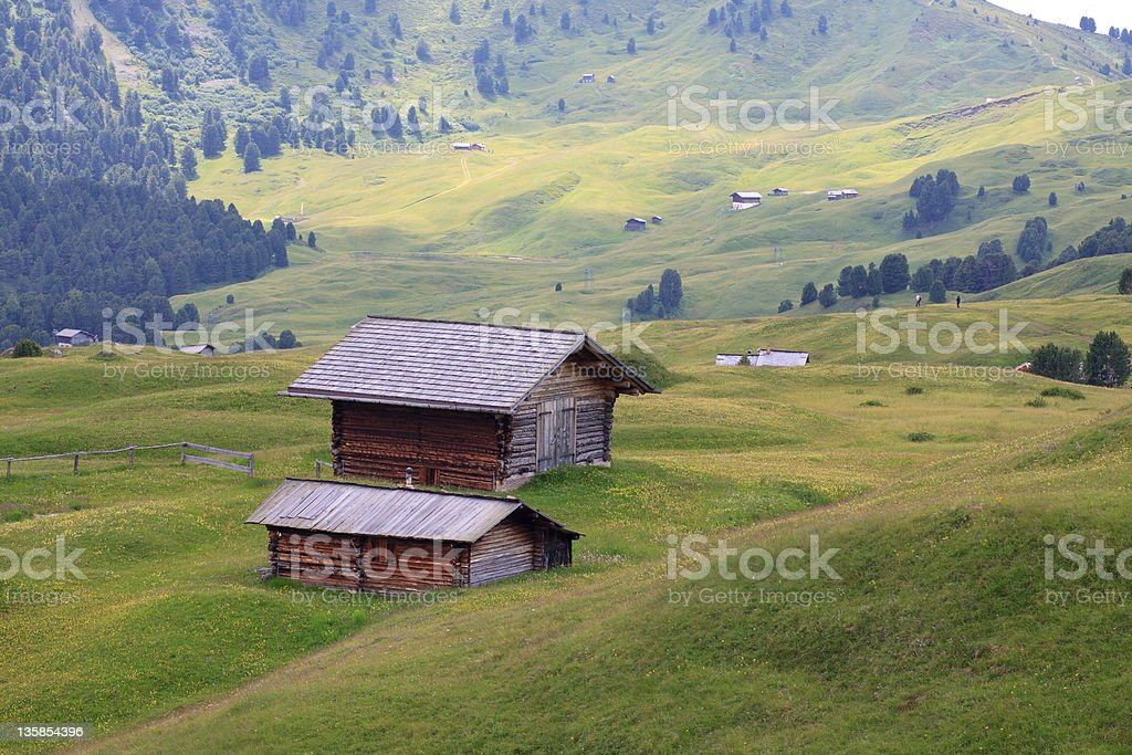 Alpe of Cisles stock photo