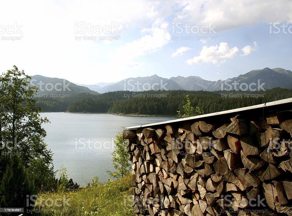 Alpen - Eibsee bei Garmisch-Partenkirchen & Zugspitze royalty-free stock photo