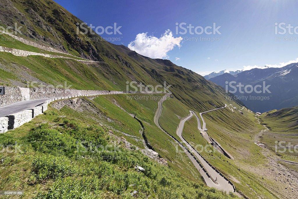 Alpen roads, Stelvio Pass stock photo