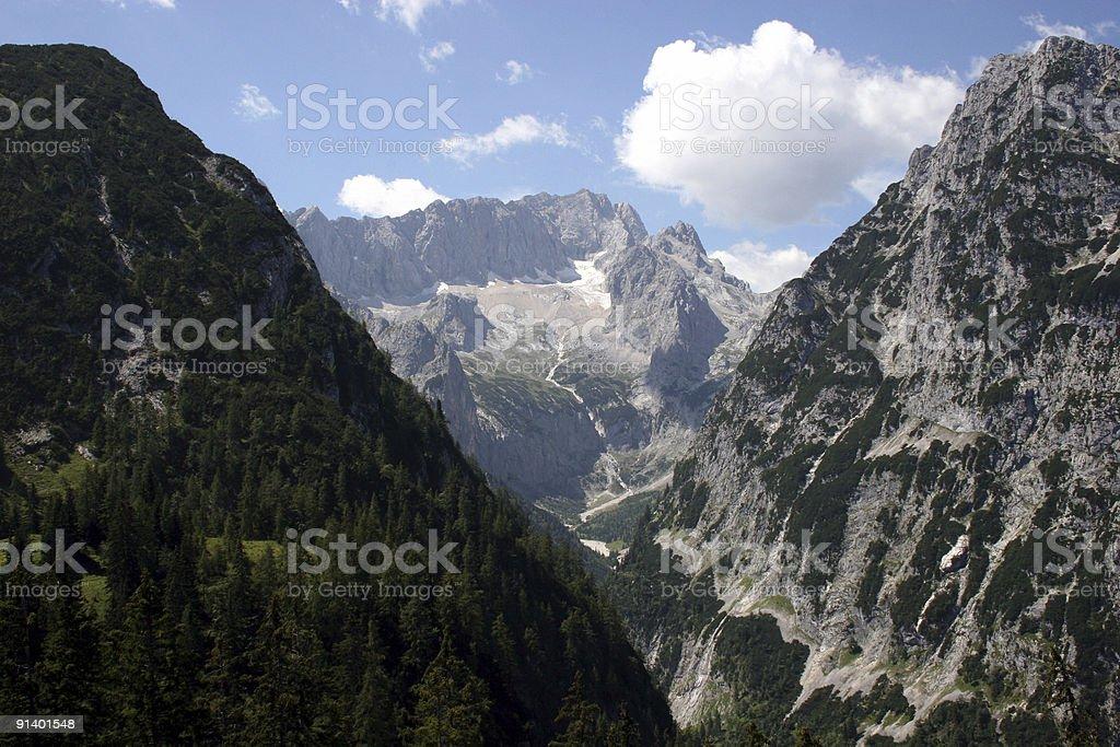 Alpen - Zugspitze H?llental & H?llentalferner stock photo