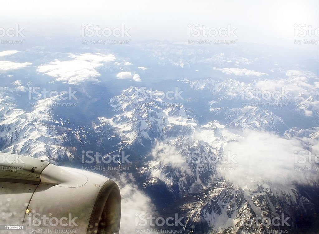 Alpen_flight royalty-free stock photo
