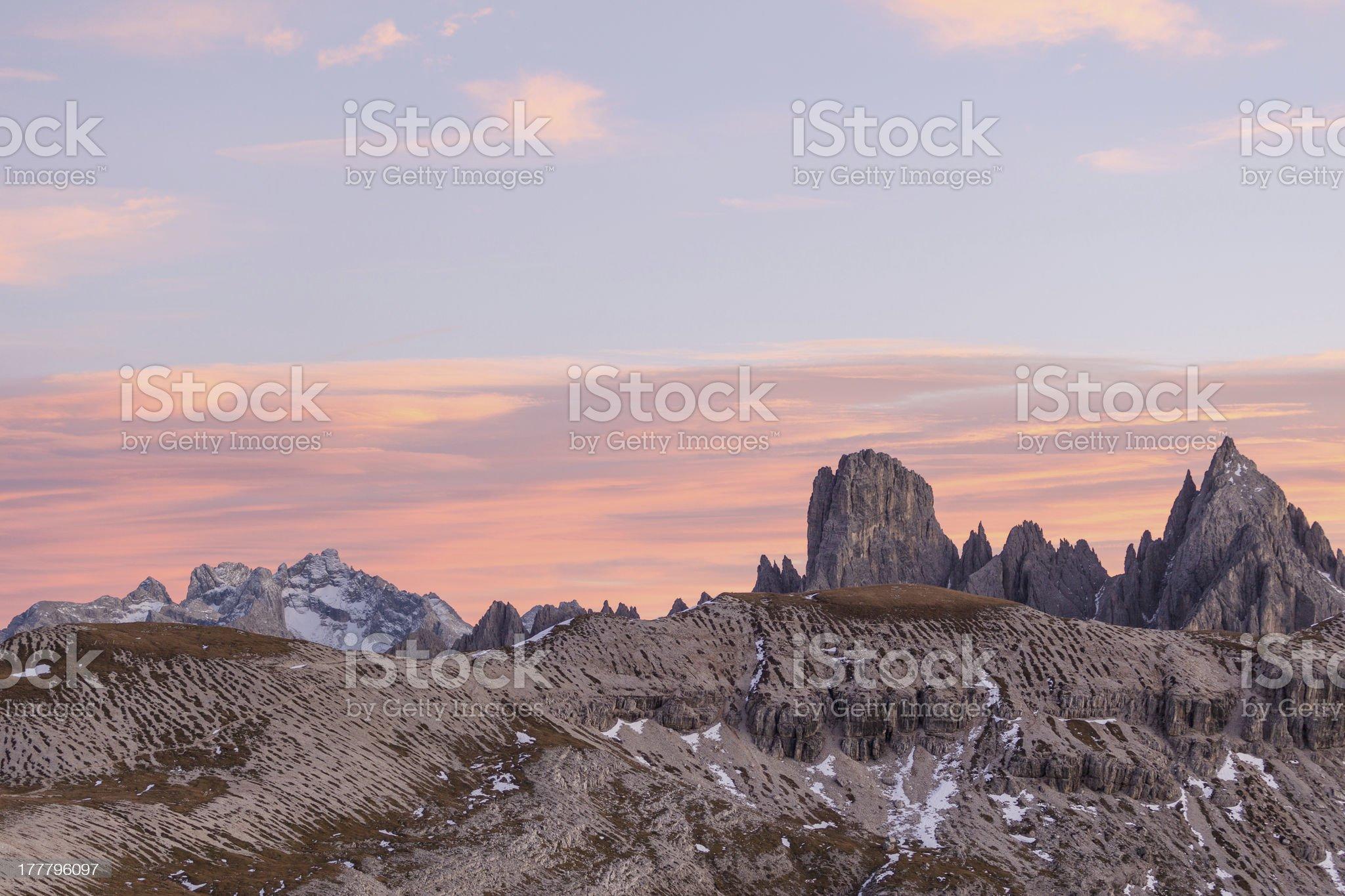 Alpenglow alp landscape royalty-free stock photo