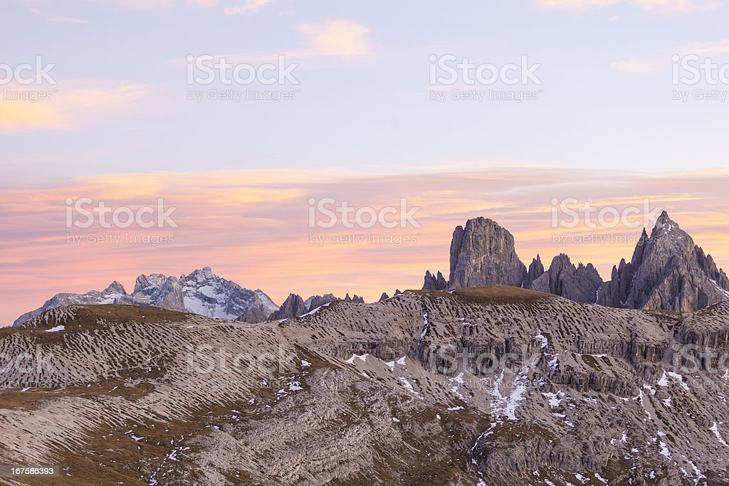 Alpenglow landscape royalty-free stock photo
