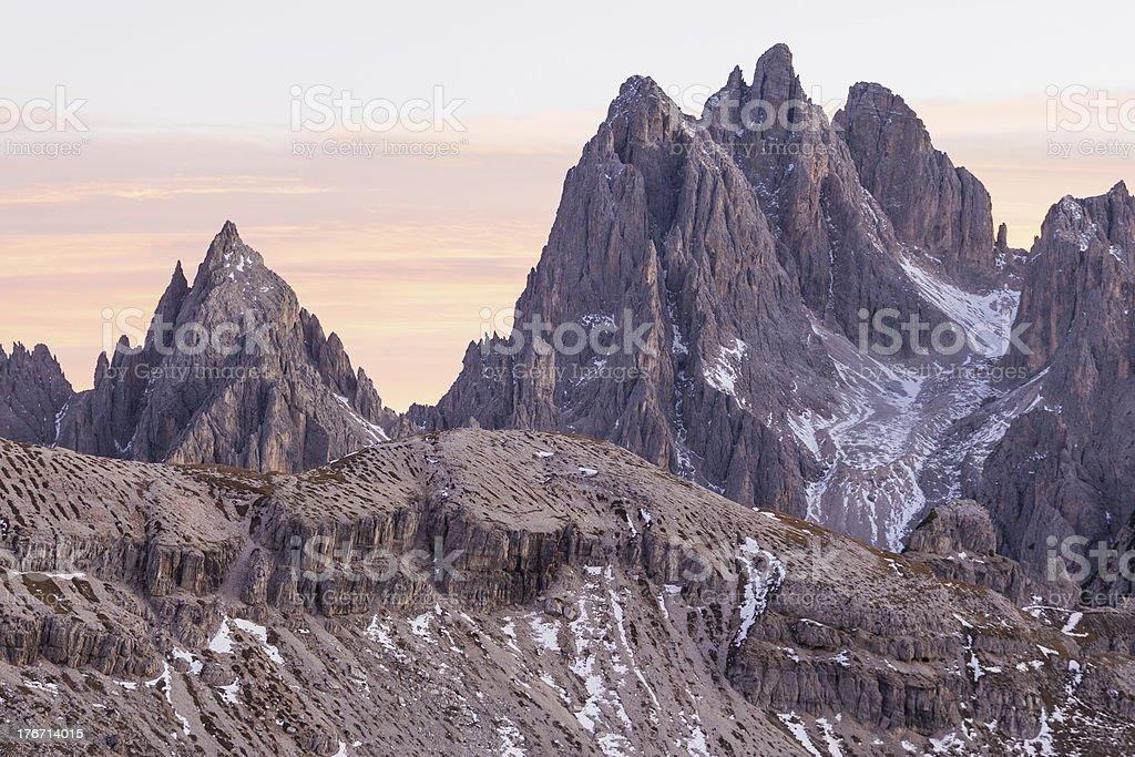 Alpenglow mountains royalty-free stock photo