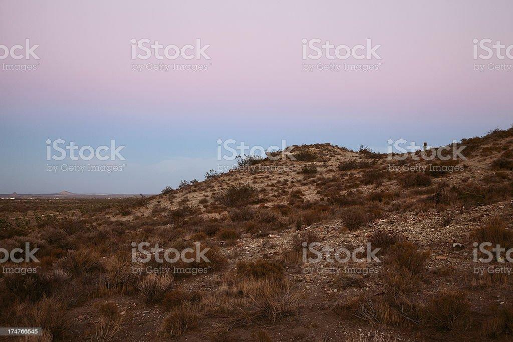Alpenglow Over Mojave Desert royalty-free stock photo